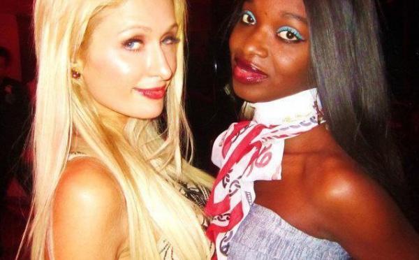 Iman de Channel avec la milliardaire Paris Hilton