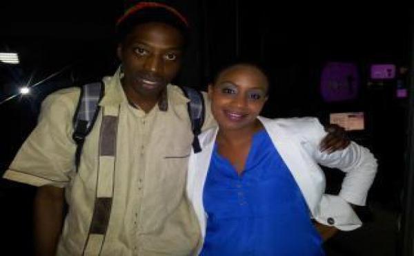 Sarah Cissé avec le rappeur Neega Mass