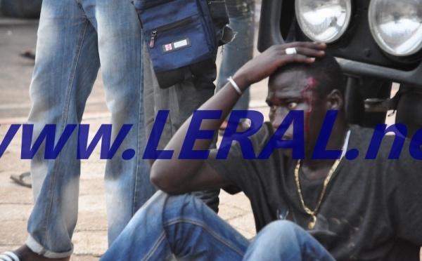 Violents affrontements entre les supporters de Modou Lô et ceux de Gris Bordeaux sur l'avenue du Centenaire