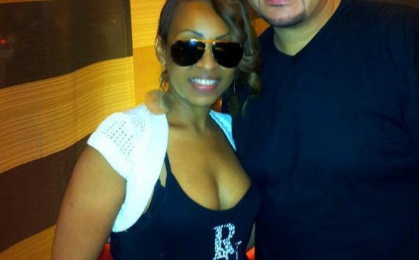 Viviane Chidid en compagnie de Fat Joe à Bata