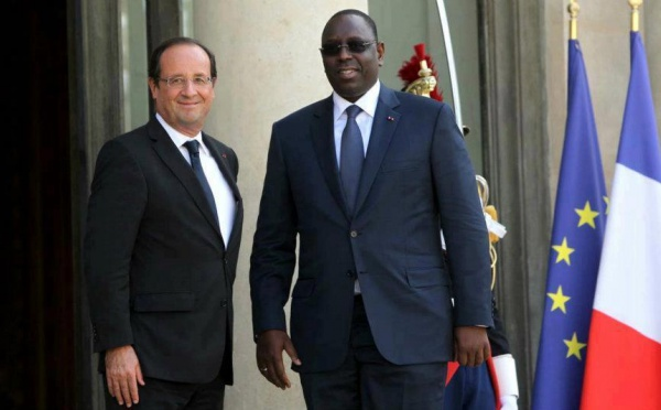 [Photos] Macky Sall reçu par François Hollande à l'Elysée