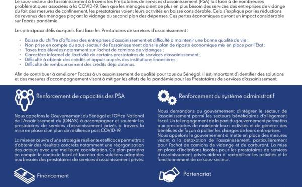 APPEL À L'ACTION, Association des Acteurs de l'Assainissement du Sénégal