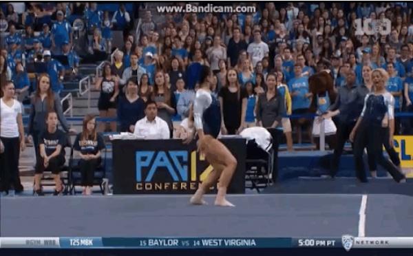 Cette gymnaste a mis tout le monde à l'amende avec ses pas de danse
