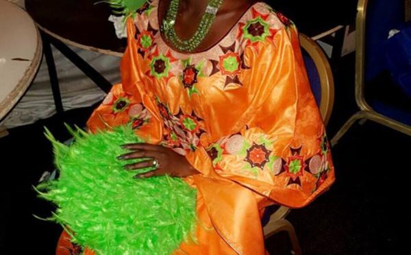 Fleur Mbaye très élégante dans cette tenue traditionnelle