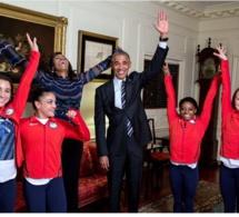 Michelle Obama commente la photo sur Snap: il est un parfait 10 dans notre livre #TeamUSA