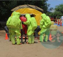 (12 Photos): Séance de simulation d'accident à effet chimique à l'Ecole Nationale de Police.