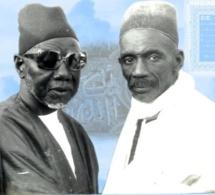 Feu Abdou Aziz Sy Dabakh en compagnie de de Feu  El Hadj Ibou Sakho