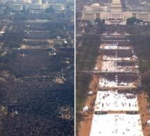 Photo-  L'image parle d'elle même, Obama 2009 vs Trump 2017 lors de leurs investitures!!!