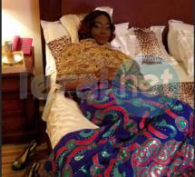 La « diva » Coumba Gawlo Seck en mode relax sur son somptueux lit