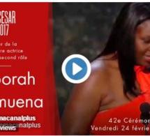 Vidéo-Dborah Lukumuena reçoit le César 2017 de la meilleure actrice dans un second rôle pour Divines