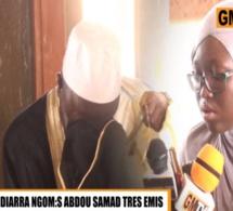 Vidéo – Émouvant : Mame Diarra Ngom récite un verset du Coran et fait pleurer Serigne Abdou Samad… Regardez!
