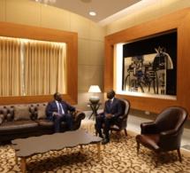 Le président de la République Macky Sall dans le nouveau salon d'honneur de l'AIBD, avant son départ pour Tokyo