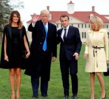 Les couples Trump et Macron se sont retrouvés pour un dîner très glamour