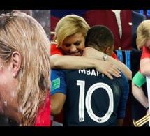 Les câlins de la présidente Croate, Kolinda Kitarović à Macron, Mbappé, Modric et Cie jugés extrêmes et excessifs