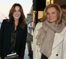 """Pour Carla Bruni-Sarkozy, Valérie Trierweiler est """"une battante, une vraie amoureuse"""""""
