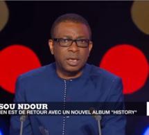 Youssou Ndour présente l'album « History » sur France 24