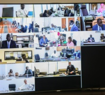 (PHOTOS)- Visioconférence: Les images du Conseil des ministres