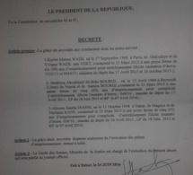 Voici le Décret présidentiel sur la grâce accordée à Karim Wade et Cie
