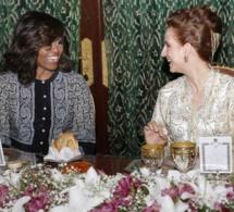 Michelle Obama et ses filles invitées à un « ndogou » avec Lalla Salma (Photos)