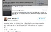 Trump lance des invitations Facebook pour demander aux Américains de venir à l'investiture