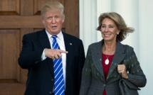Aux Etats-Unis, une milliardaire controversée nommée au Département  de l'Education