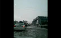 Les fortes pluies dans les différentes provinces du royaume d'Arabie Saoudite.. Ici, dans la capitale Riyadh