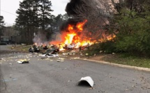 USA : Crash d'un avion de tourisme sur une maison près de Fulton en Georgie