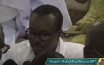 Discours de S. Bassirou Abdou Khadre au Magal de Serigne Abdoul Ahad 2017 (Vidéo)