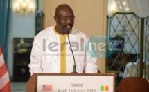 """George Weah : """"le Libéria attend du Sénégal une coopération dans les domaines de l'agriculture, la santé et l'éducation"""""""