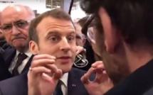 Salon de l'agriculture : Macron s'énerve contre un céréalier qui l'a «sifflé dans le dos»