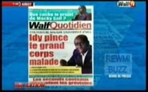 Revue de Presse WalfTv du mardi 20 mars 2018 en images