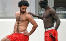 (06 Photos)-Sadio Mané et Mo Salah bandent les muscles à l'entraînement !