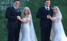 USA: Deux couples de jumeaux identiques se marient lors d'une cérémonie conjointe
