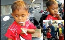 Indonésie : âgé de 2 ans et demi, il peut fumer jusqu'à 40 cigarettes par jour (vidéo)