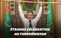 Au Turkménistan, le président fait de l'haltérophilie devant ses ministres !!!