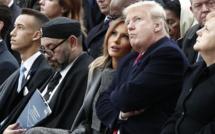 PARIS - Célébration du 11 novembre: Le roi du Maroc pique un roupillon, Trump le fusille du regard