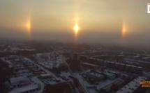 Arrêt sur image - 3 soleils brillent dans le ciel de Russie, phénomène naturel impressionnant !