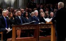 Quand l'ancien président George H. W. Bush unit Amérique, le temps d'un adieu solennel