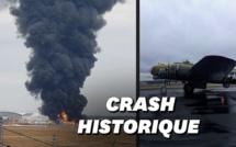 Etats-Unis: Un bombardier de la Seconde guerre mondiale s'écrase, plusieurs morts