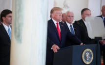 Iran: Donald Trump joue la carte de l'apaisement face à l'option militaire