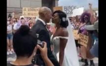 Black lives matter : Un couple  célèbre son mariage au milieu des manifestations pour George Floyd