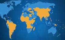 Covid-19 à l'échelle mondiale : - les États-Unis le pays le plus touché, suivis du Brésil , du Royaume-Uni , de l'Italie et de la France