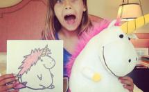 Ils donnent vie aux dessins des enfants pour en faire de vraies peluches ! Génial, comme idée de cadeau...