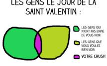 La vie des célibataires à la Saint Valentin en 10 graphiques (très) moches