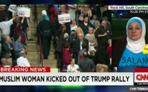 Une musulmane quitte un meeting de Donald Trump sous les huées
